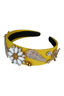 Makayla - Morgan & Taylor Beaded Yellow Headband