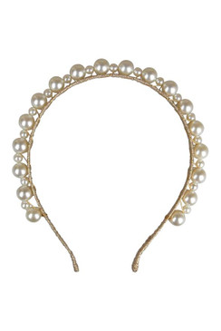 Perla - Morgan & Taylor Gold and Pearl Headband