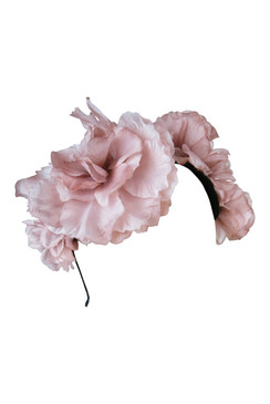 Alexa - Dusty Pink Floral Headpiece by Morgan & Taylor