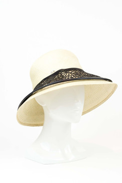 The Dreamer - Hand-woven Buntal Hat with Laser-cut Leather Brim by Studio ANISS