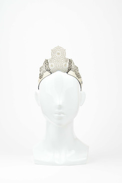Geometric Crown - Laser Cut Leather Crown in Geometric Design by Studio ANISS