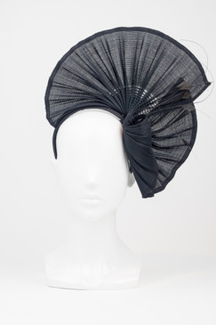 Morgan & Taylor Black Fan Headpiece