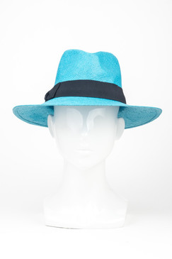 "Morgan & Taylor Regular ""Lane"" Fedora in Aqua"
