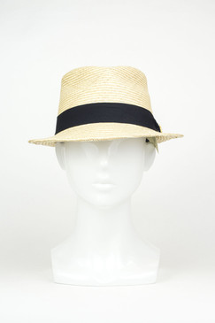 Mr Natural (Short Brim) - Natural Straw Panama Trilby by Truffaux