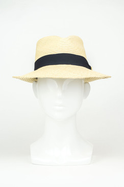 Mr Natural (Medium Brim) - Natural Straw Panama Trilby by Truffaux