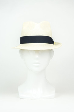 The Cuban (Short Brim) - Ivory Straw Panama Trilby by Truffaux