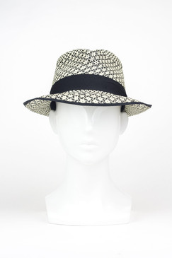Captain Starlight (Medium Brim) Panama Straw Trilby by Truffaux