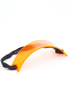 UV Orange Perspex Headband by Keely Hunter Millinery