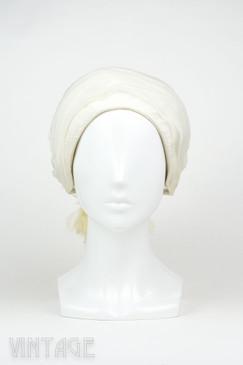 Vintage Schiaparelli 1960s Cream Beehive Hat