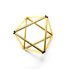 Octohedron Bracelet by WXYZ Jewelry - Gold