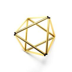 Octohedron Bracelet by WXYZ Jewelry - Gold