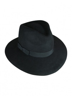 Black Wool Felt Fedora - Aspen by Ace of Something