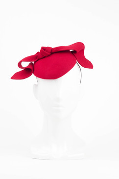 Red Felt Headpiece with Bow Detail by Morgan & Taylor