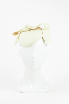 Cream Felt Headpiece with Bow Detail by Morgan & Taylor
