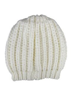 "Cream Chunky Knit ""Bianca"" Beanie Hat by Morgan & Taylor"
