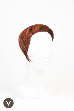 1950s Brown Feather Vintage Headpiece