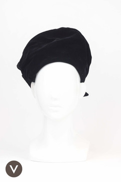 Vintage 1970s Black Velvet Turban by Betmar