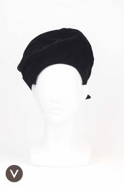 Vintage 1970s Black Velvet Turban by Betmar