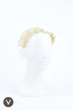 Vintage 1940s/50s Beaded Bridal Half Hat