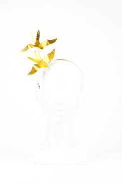 Gold Foiled Bird Headband by Richard Nylon