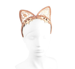 Rose Gold Lasercut Leather Nikita Crown by Studio ANISS