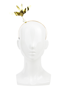 Gold Bird Headband by Richard Nylon Millinery