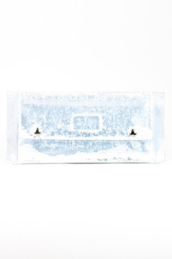 Large White Snow Glitter Clutch by S.Rush Rainwear