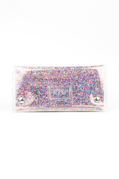Small Confetti Glitter Clutch by S.Rush Rainwear