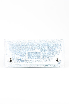 Small Snow White Glitter Clutch by S.Rush Rainwear