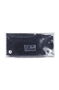 Small Jet Black Glitter Clutch by S.Rush Rainwear