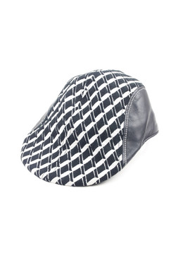 Modern Love - Black and White Dior Fabric Flat Cap