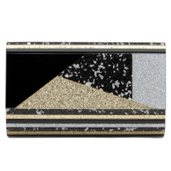 Pheonix - Black Gold & Silver Perspex Clutch by Olga Berg