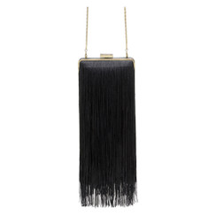 It - Black Fringed Olga Berg Pod Clutch
