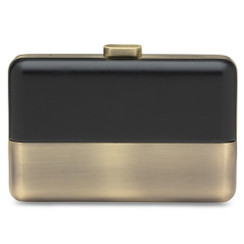 Elin - Black and Brushed Gold Clutch by Olga Berg