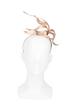 Rose Gold Bronze Leather Lily Headband by Kim Wiebenga