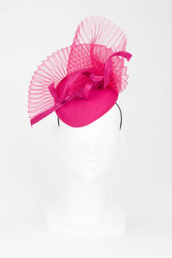 Fuchsia Fan Pillbox Fascinator from Fillies Collection