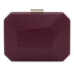 Adele - Large Shiraz Facetted Pod Clutch Handbag by Olga Berg