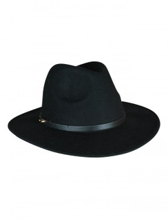 Oslo - Black Wool Felt Fedora by Ace of Something