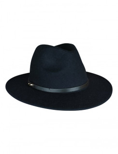Oslo - Navy Wool Felt Fedora from Ace of Something