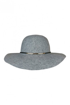 London - Grey Wool Floppy Hat by Morgan & Taylor
