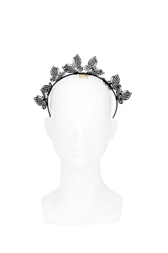 Butterfly Kisses - Black Butterfly Headband by Rebecca Share Millinery