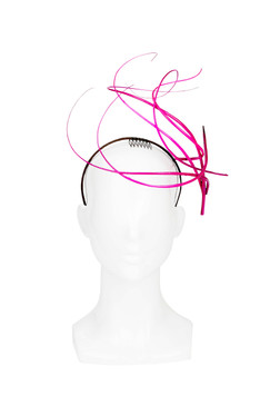 Pink Sculptured Quills Headband Headpiece by Kim Wiebenga