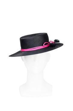 Lou Lou - Parasisal Boater Hat by Benoit Missolin Hats Millinery