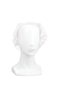 Kiss Me - Pink Lips Headband with Veil by Benoit Missolin Hats Millinery