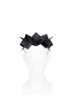 Black Swan - Black Acrylic Origami Headband by Ford Millinery