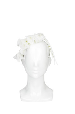 Melisa - White Falling Silk Flowers by Ann Shoebridge Milliner