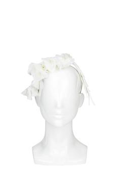Melisa - White Falling Silk Flowers by Ann Shoebridge Milliner