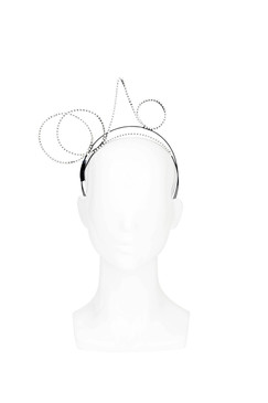 Isolde - Sculptural Diamante Headband by Ann Shoebridge Milliner