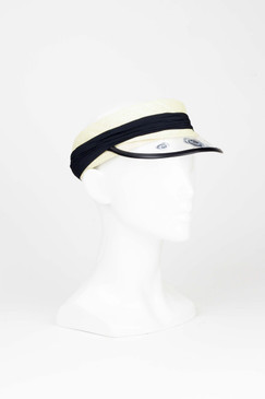 Brigitte - Raffia Visor with Acrylic Roses in Black by Sophie Beale Millinery
