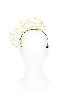 Jemaa - Gold Geometric Headband by Lady of Leisure Millinery